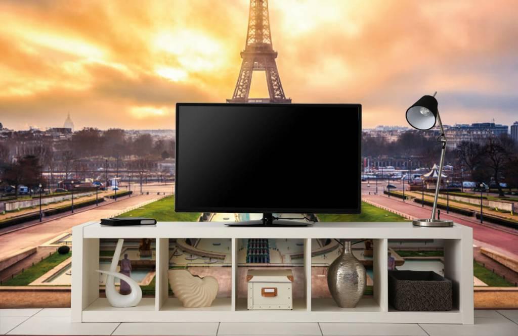 Papier peint Villes - Tour Eiffel - Chambre à coucher 5