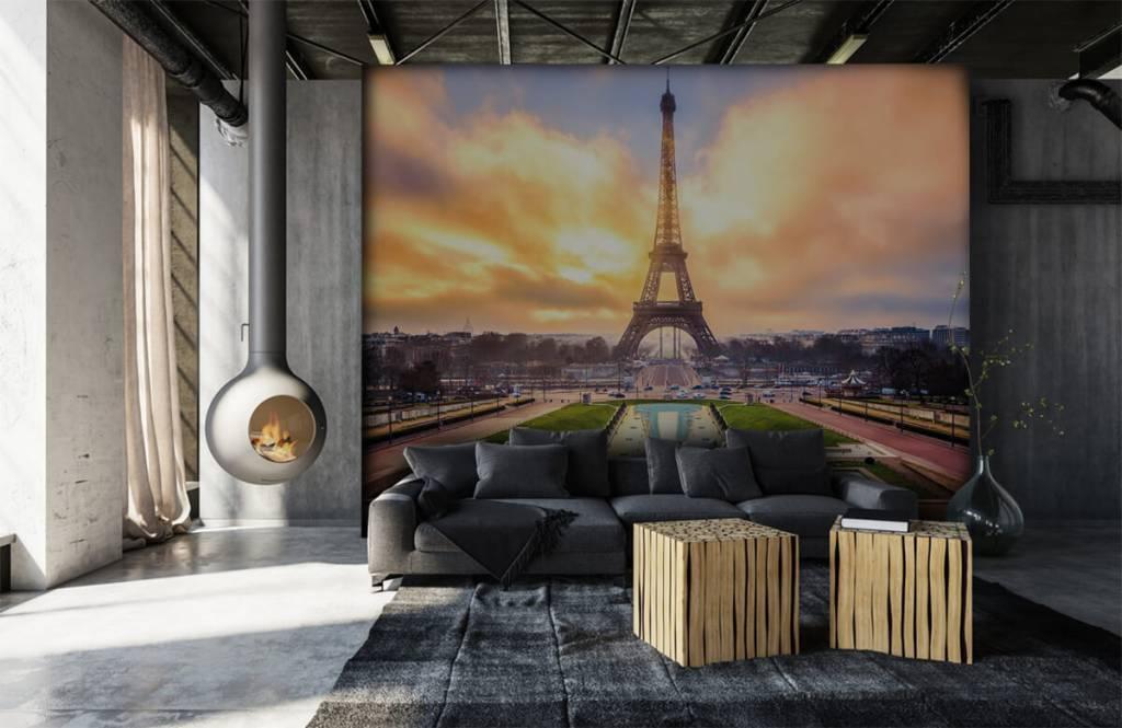 Papier peint Villes - Tour Eiffel - Chambre à coucher 7