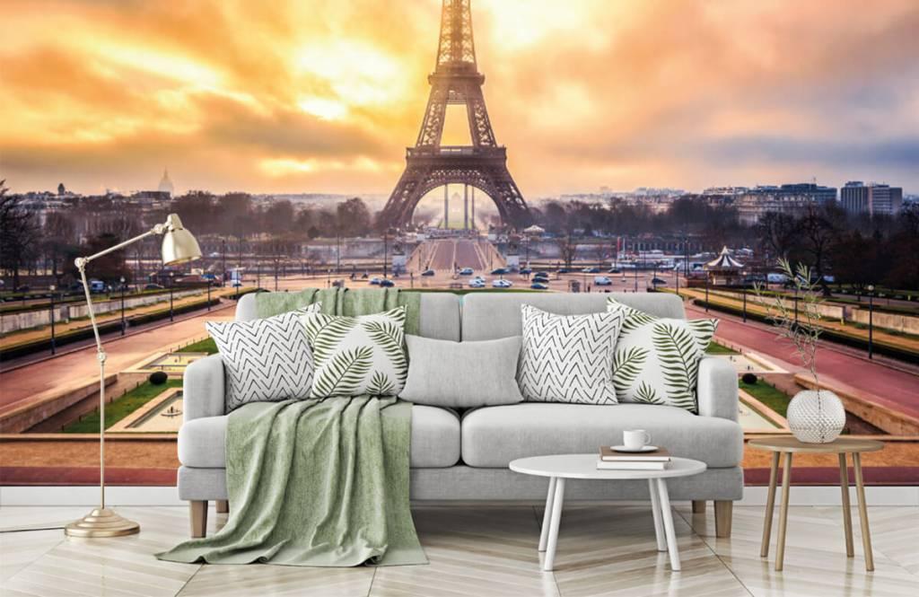 Papier peint Villes - Tour Eiffel - Chambre à coucher 8