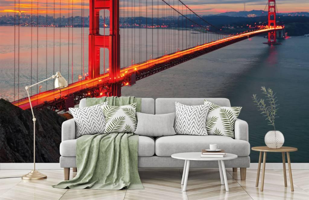 Papier peint Villes - Pont du Golden Gate - Chambre à coucher 1