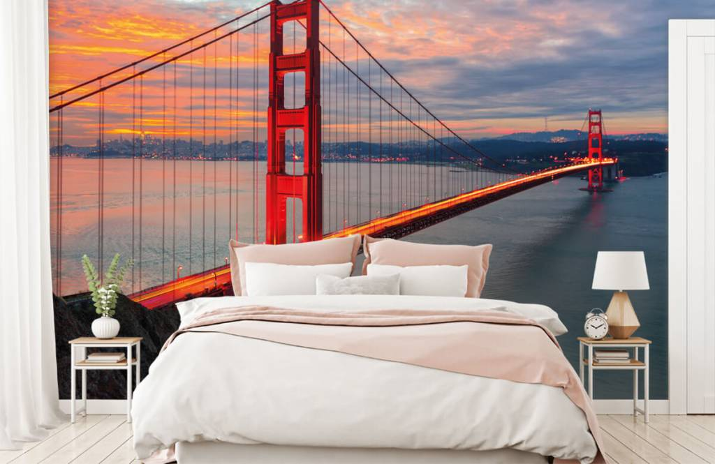Papier peint Villes - Pont du Golden Gate - Chambre à coucher 2