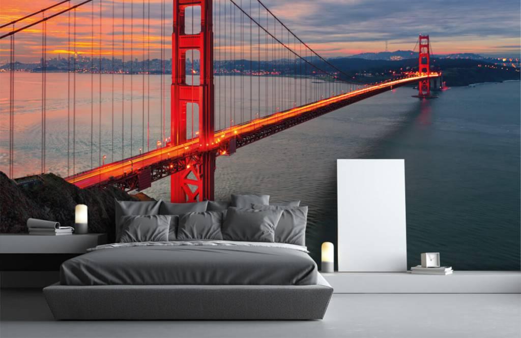 Papier peint Villes - Pont du Golden Gate - Chambre à coucher 3