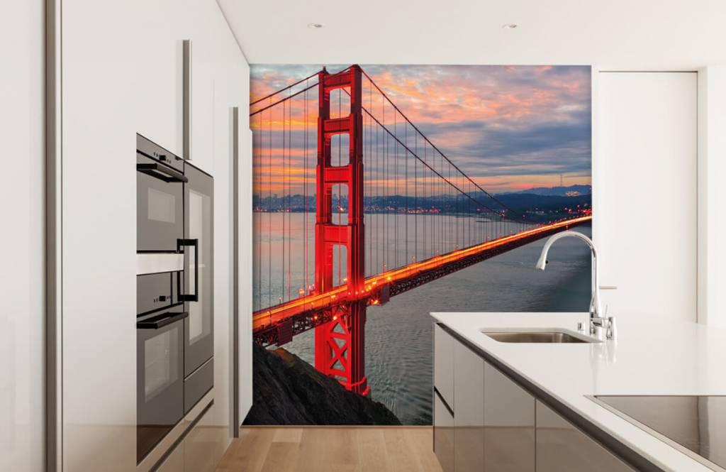 Papier peint Villes - Pont du Golden Gate - Chambre à coucher 4