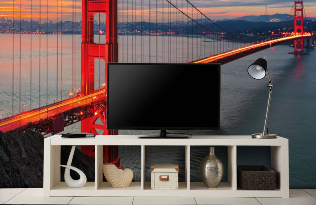 Papier peint Villes - Pont du Golden Gate - Chambre à coucher 5