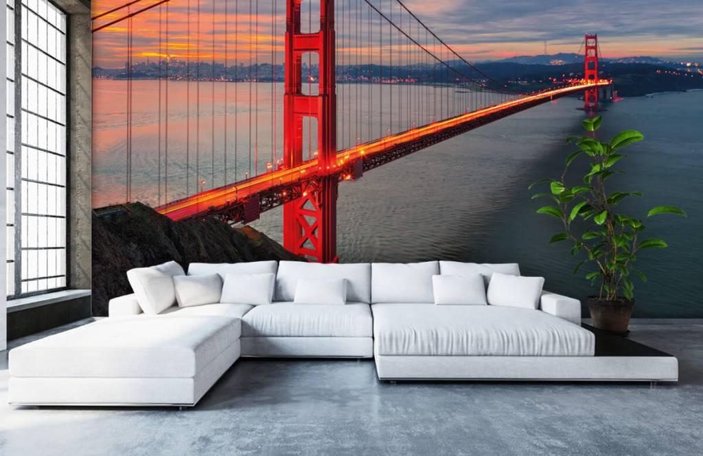 Papier peint Villes - Pont du Golden Gate - Chambre à coucher 6