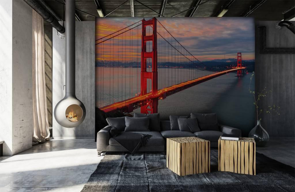Papier peint Villes - Pont du Golden Gate - Chambre à coucher 7