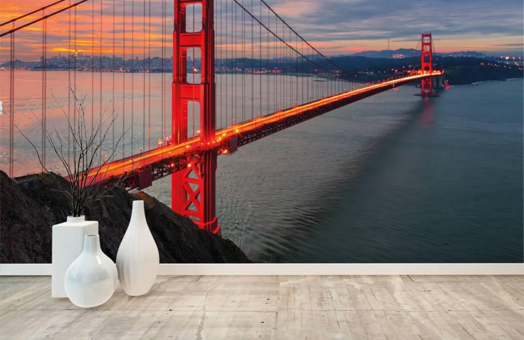 Papier peint Villes - Pont du Golden Gate - Chambre à coucher 8