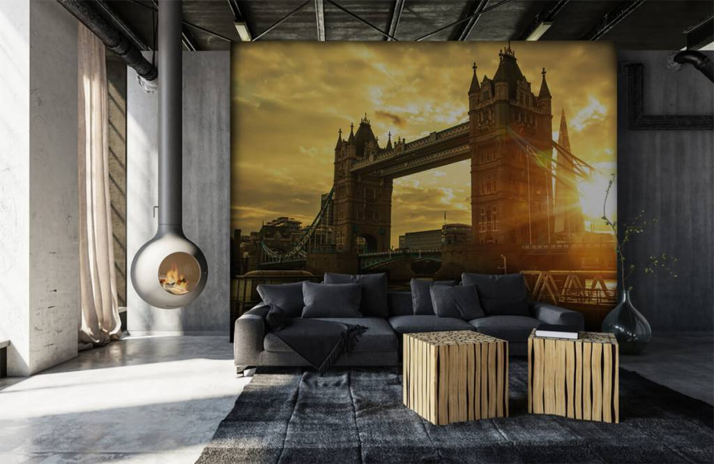 Papier peint Villes - Pont de la Tour de Londres - Chambre à coucher 1