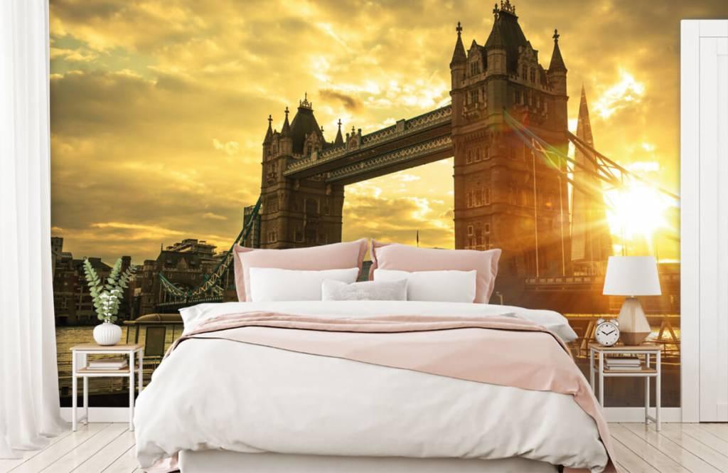 Papier peint Villes - Pont de la Tour de Londres - Chambre à coucher 2