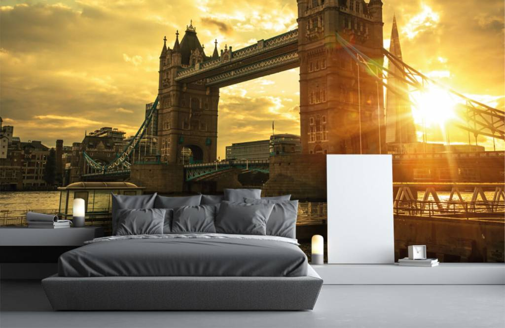 Papier peint Villes - Pont de la Tour de Londres - Chambre à coucher 3
