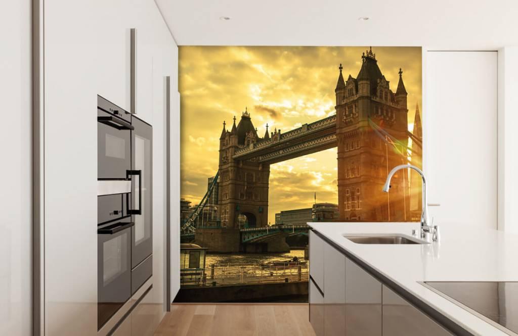 Papier peint Villes - Pont de la Tour de Londres - Chambre à coucher 4