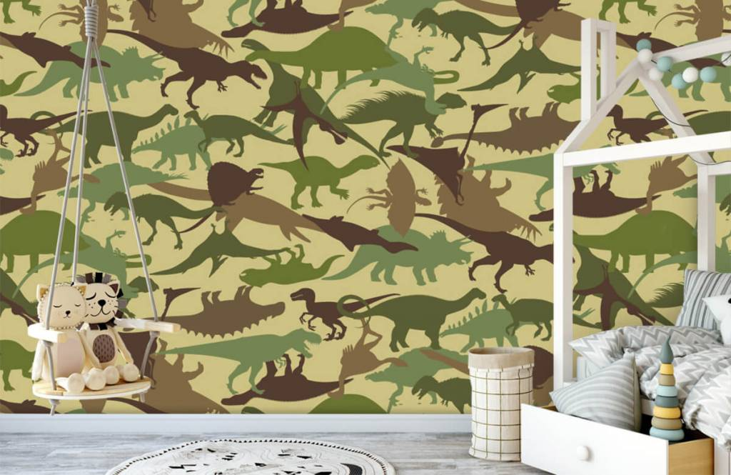 Dinosaures - Dino camouflage - Chambre d'enfants 1