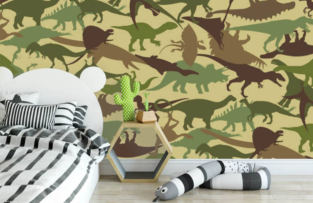 Dinosaures - Dino camouflage - Chambre d'enfants 3