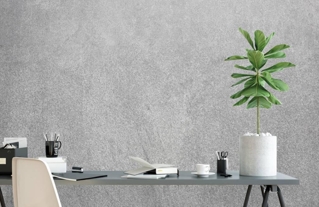 Papier peint aspect béton - Béton sablé foncé - Bureau 2