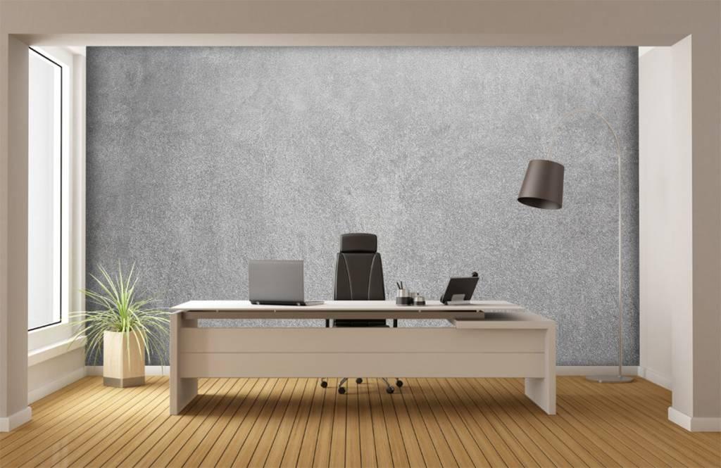 Papier peint aspect béton - Béton sablé foncé - Bureau 3
