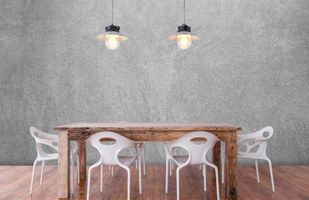 Papier peint aspect béton - Béton sablé foncé - Bureau 6