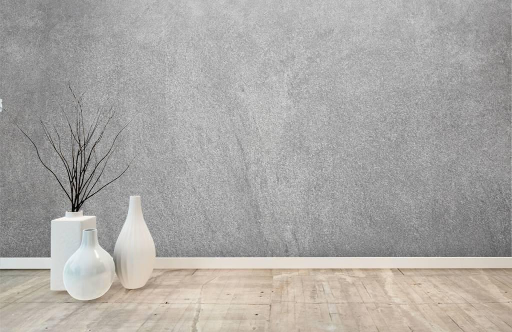 Papier peint aspect béton - Béton sablé foncé - Bureau 7