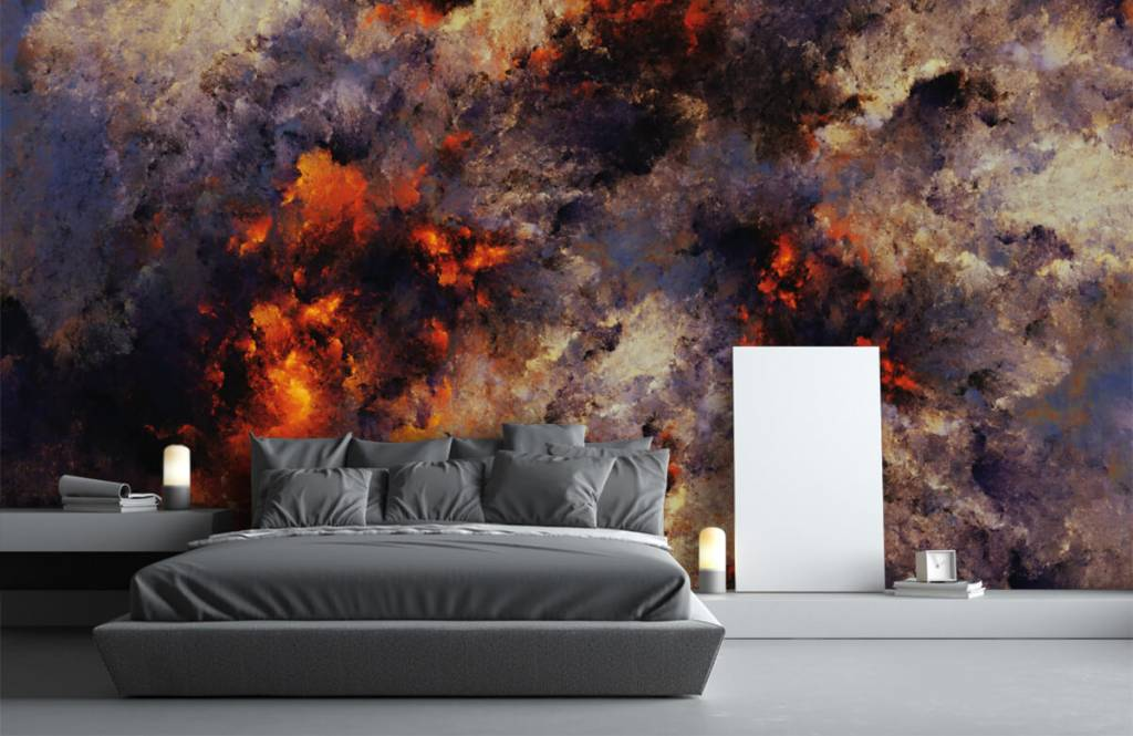 Abstrait - Des nuages de fumée sombres et abstraits - Entrepôt 3