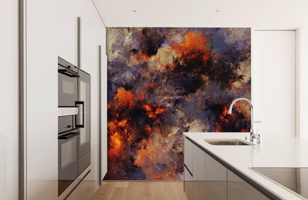 Abstrait - Des nuages de fumée sombres et abstraits - Entrepôt 4