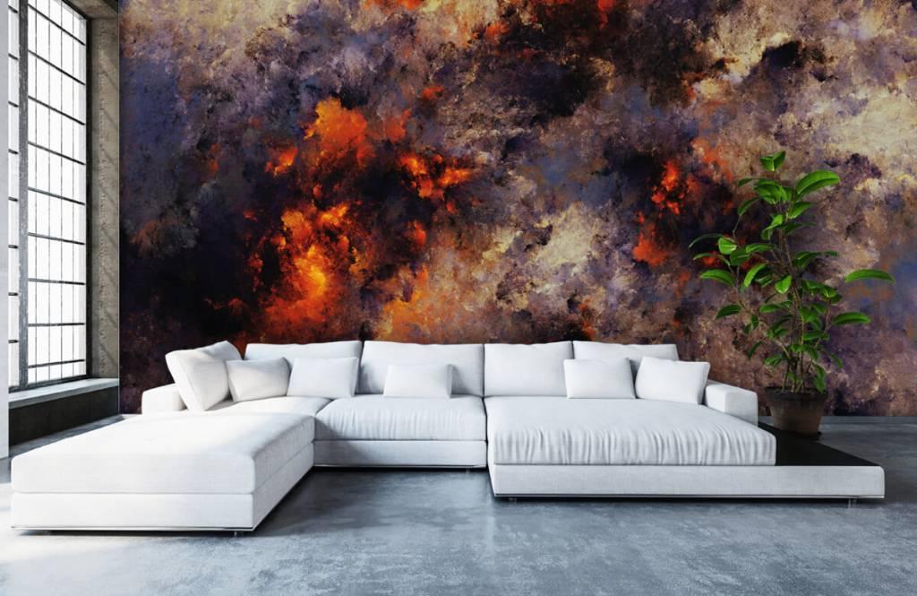 Abstrait - Des nuages de fumée sombres et abstraits - Entrepôt 5