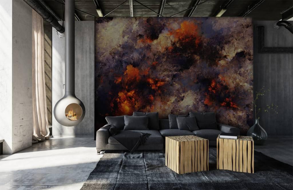 Abstrait - Des nuages de fumée sombres et abstraits - Entrepôt 6