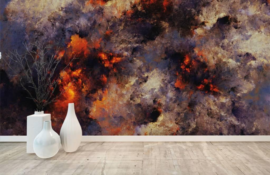 Abstrait - Des nuages de fumée sombres et abstraits - Entrepôt 8