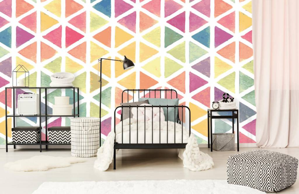 Autre - Triangles à effet aquarelle - Chambre d'enfants 1