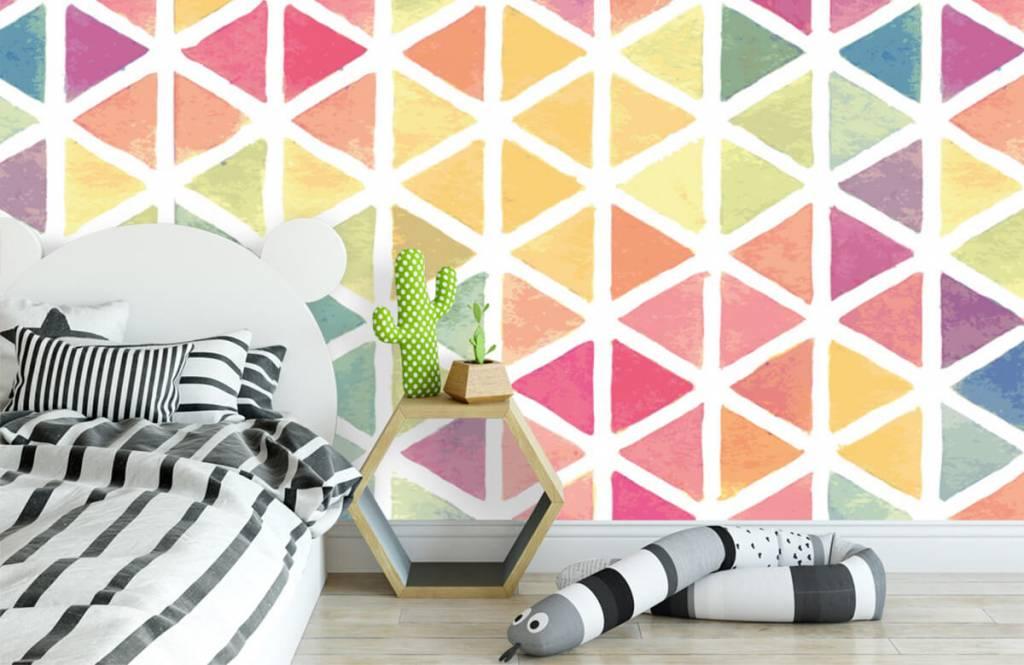 Autre - Triangles à effet aquarelle - Chambre d'enfants 2