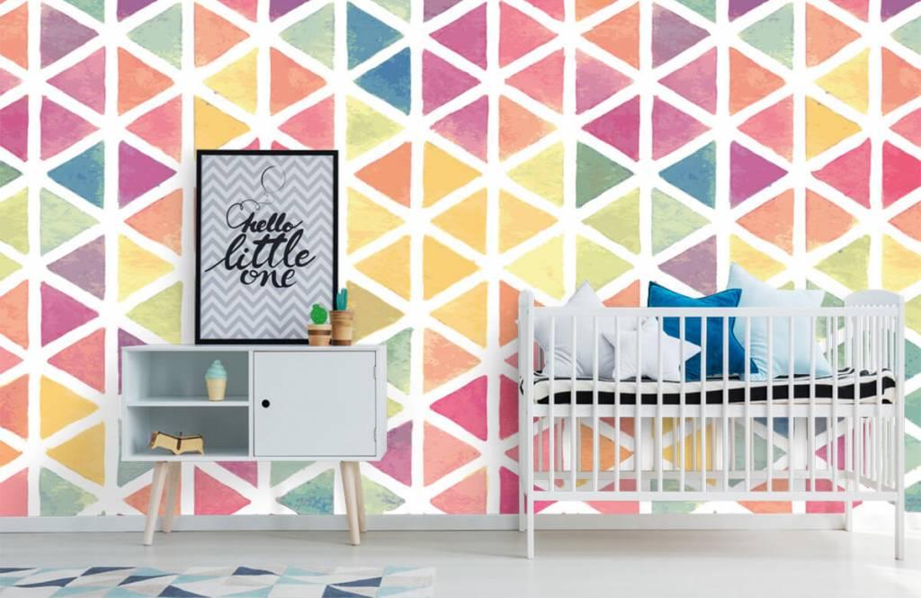 Autre - Triangles à effet aquarelle - Chambre d'enfants 3