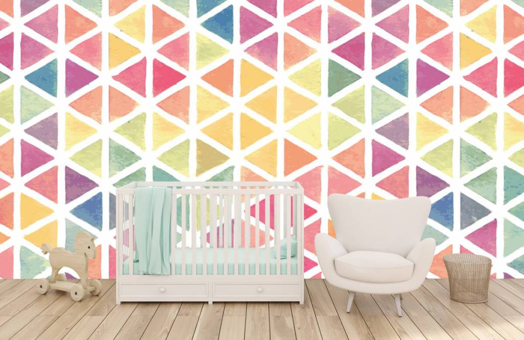 Autre - Triangles à effet aquarelle - Chambre d'enfants 4