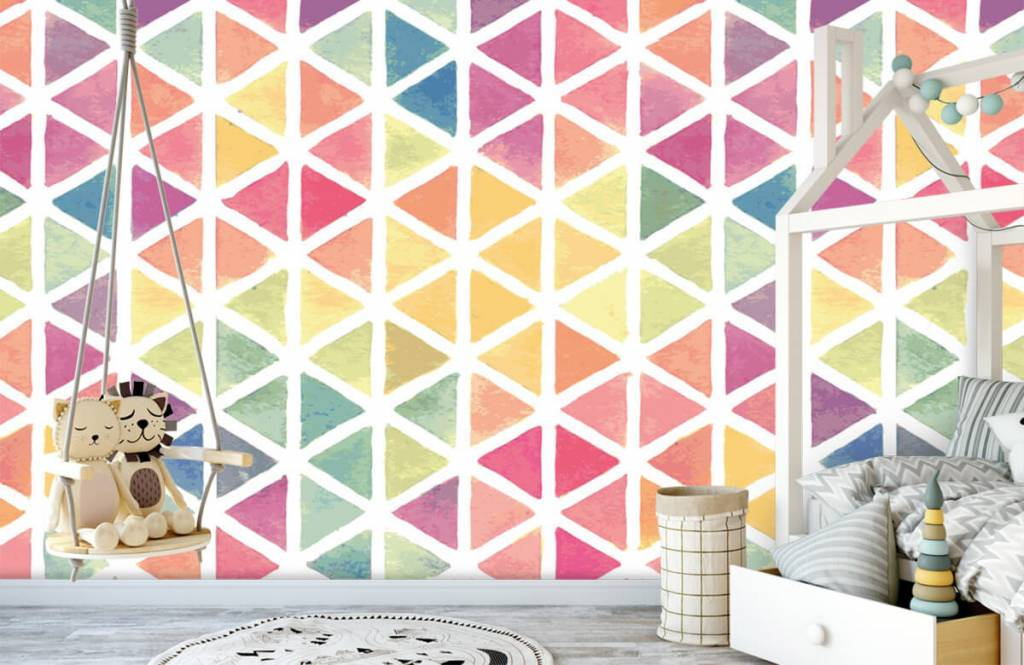 Autre - Triangles à effet aquarelle - Chambre d'enfants 5