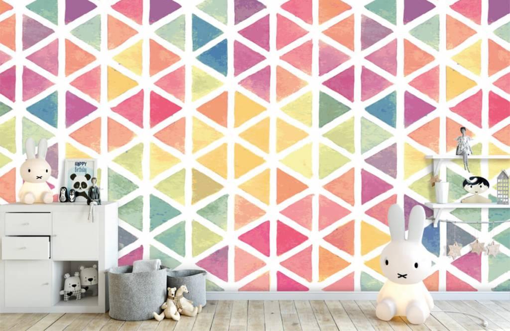 Autre - Triangles à effet aquarelle - Chambre d'enfants 6