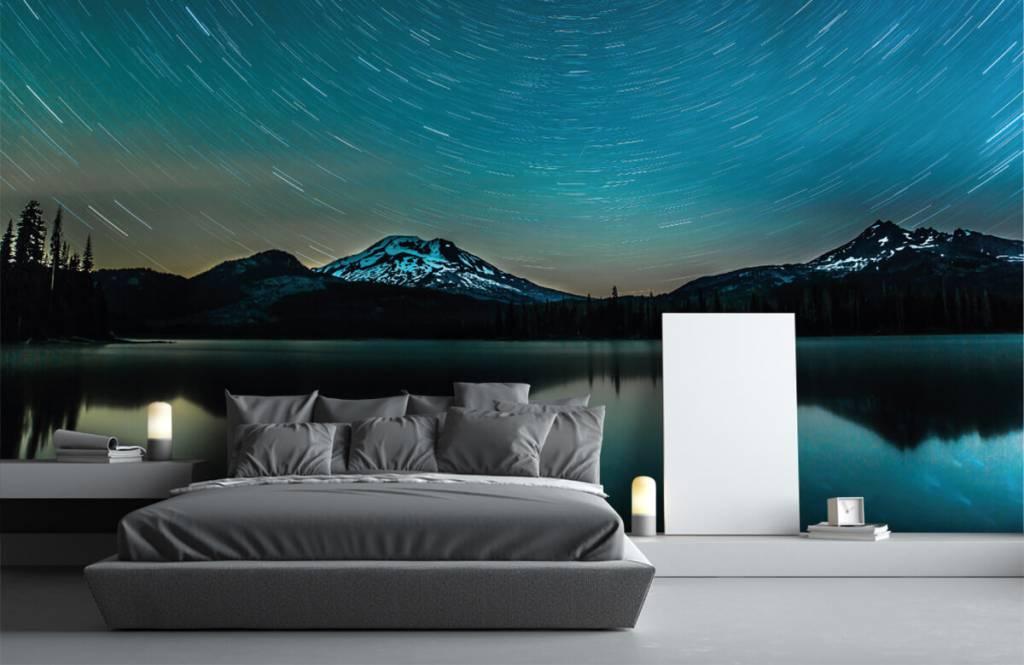 Aurores boréales - Ciel étoilé sombre - Chambre à coucher 1