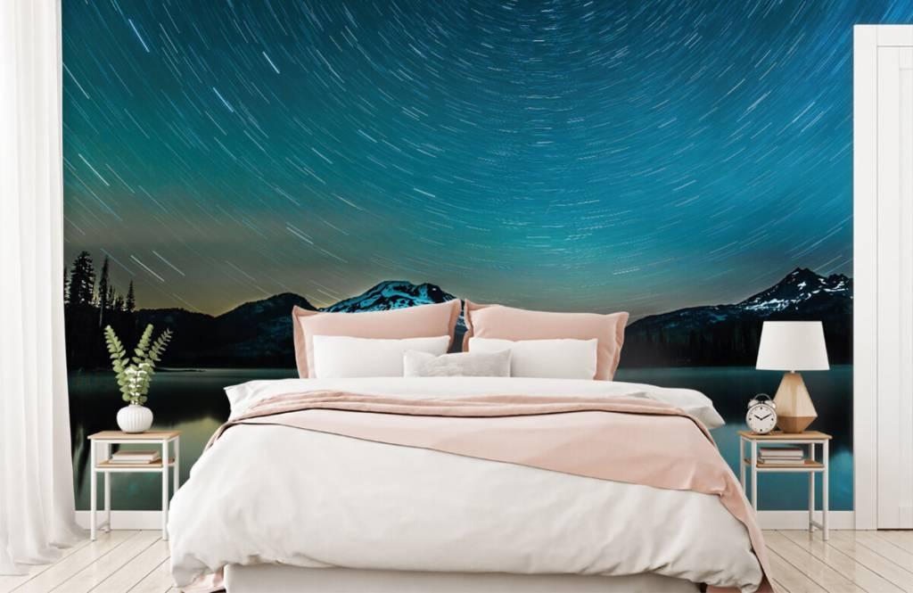 Aurores boréales - Ciel étoilé sombre - Chambre à coucher 2