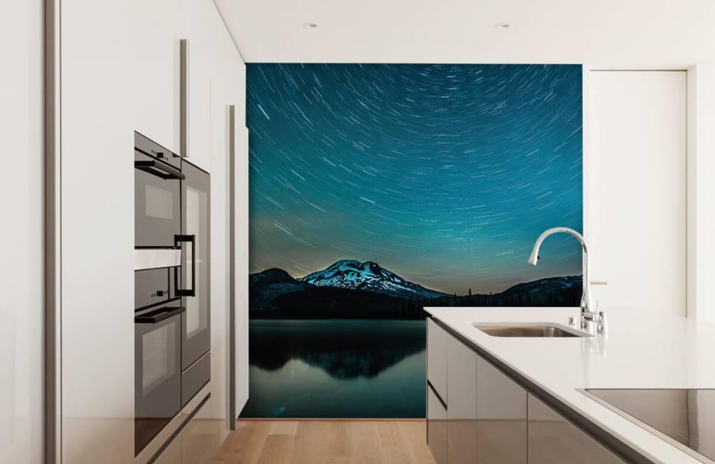 Aurores boréales - Ciel étoilé sombre - Chambre à coucher 3