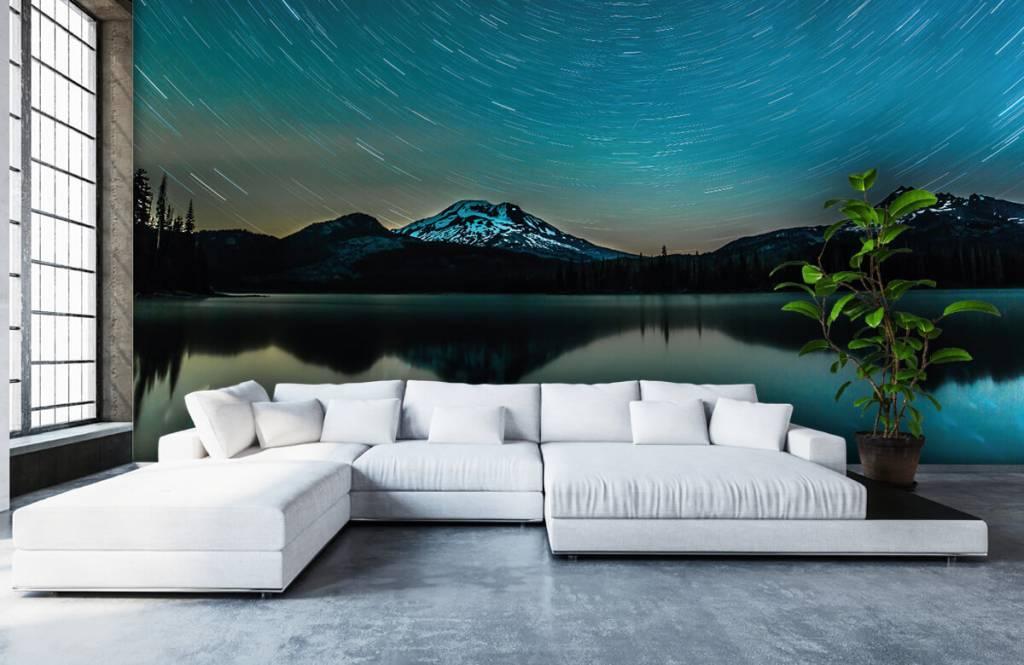 Aurores boréales - Ciel étoilé sombre - Chambre à coucher 5