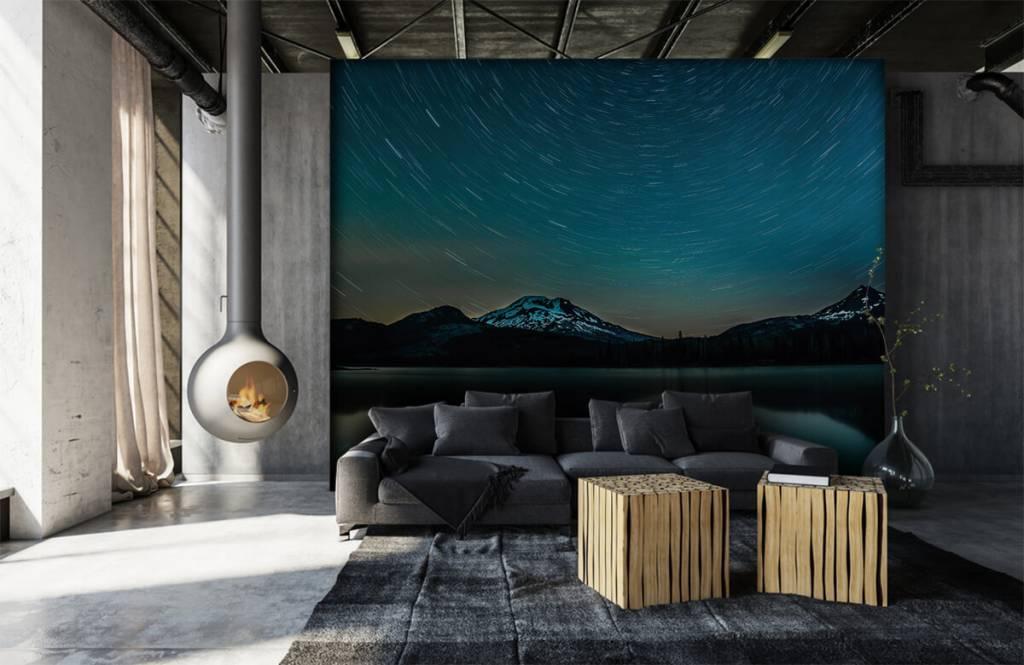 Aurores boréales - Ciel étoilé sombre - Chambre à coucher 6