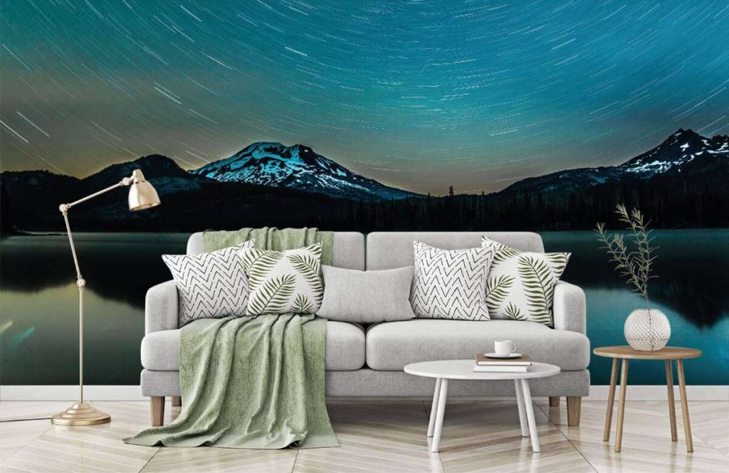 Aurores boréales - Ciel étoilé sombre - Chambre à coucher 7