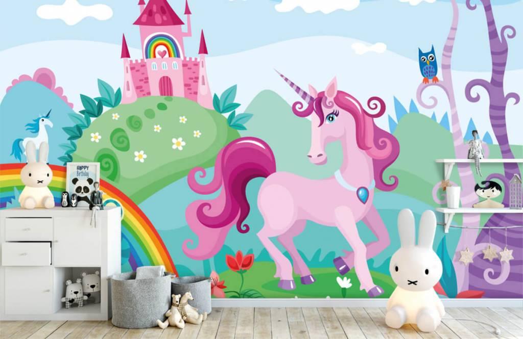 Autre - Licorne dans un château - Chambre d'enfants 4