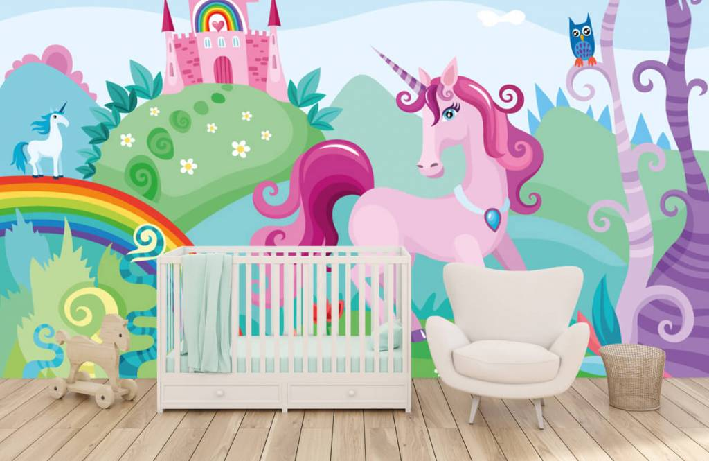 Autre - Licorne dans un château - Chambre d'enfants 5