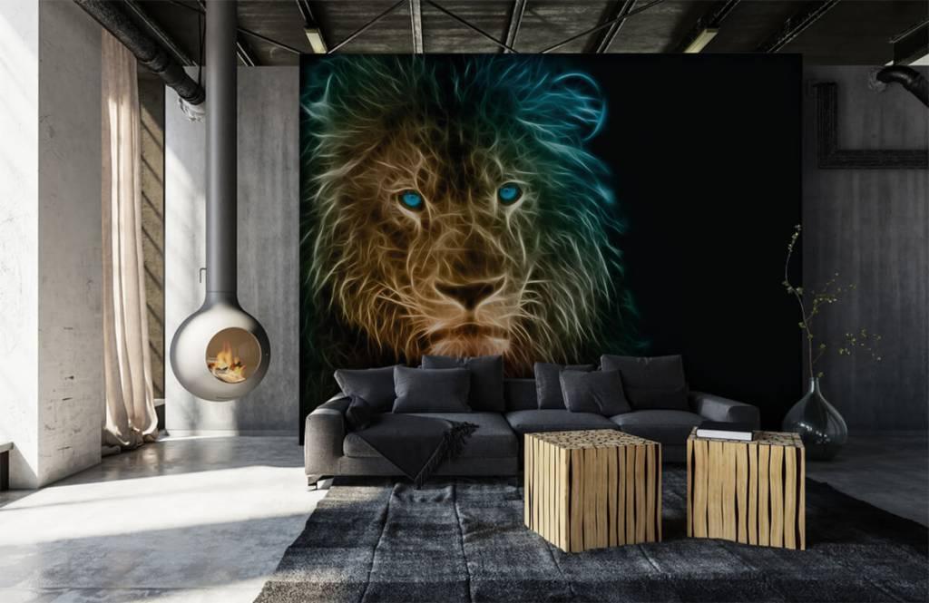 Animaux - Lion fantaisiste - Chambre d'adolescent 1