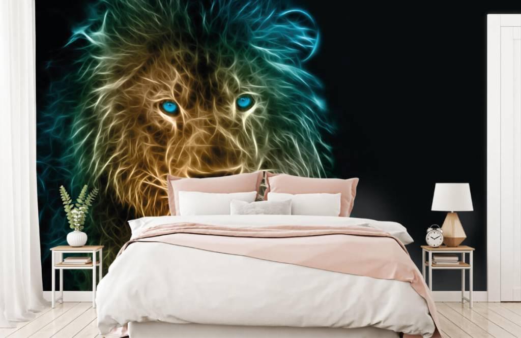 Animaux - Lion fantaisiste - Chambre d'adolescent 2