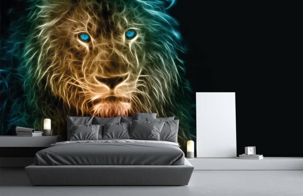 Animaux - Lion fantaisiste - Chambre d'adolescent 3