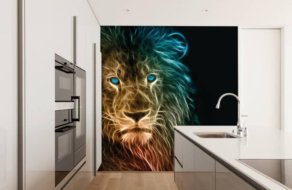 Animaux - Lion fantaisiste - Chambre d'adolescent 4