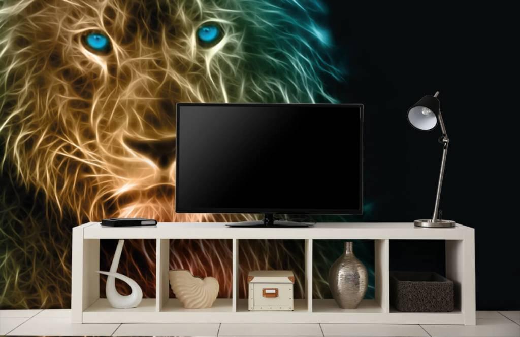 Animaux - Lion fantaisiste - Chambre d'adolescent 5