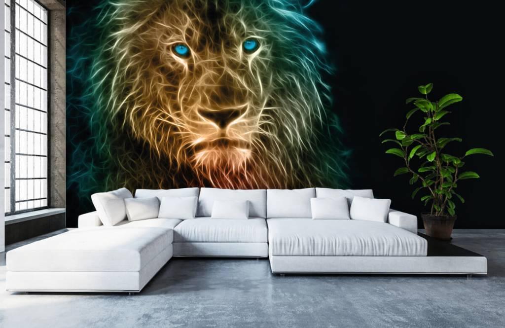 Animaux - Lion fantaisiste - Chambre d'adolescent 6