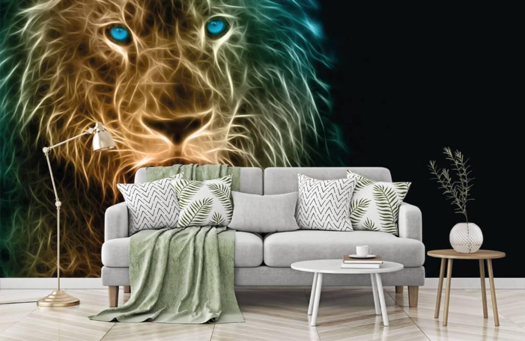 Animaux - Lion fantaisiste - Chambre d'adolescent 7