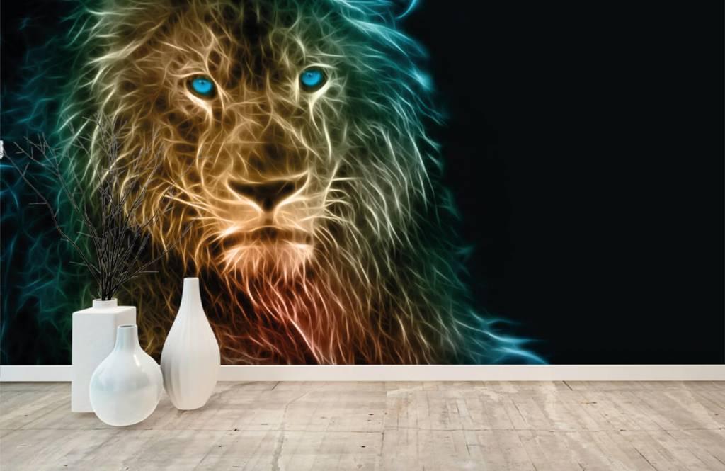 Animaux - Lion fantaisiste - Chambre d'adolescent 8