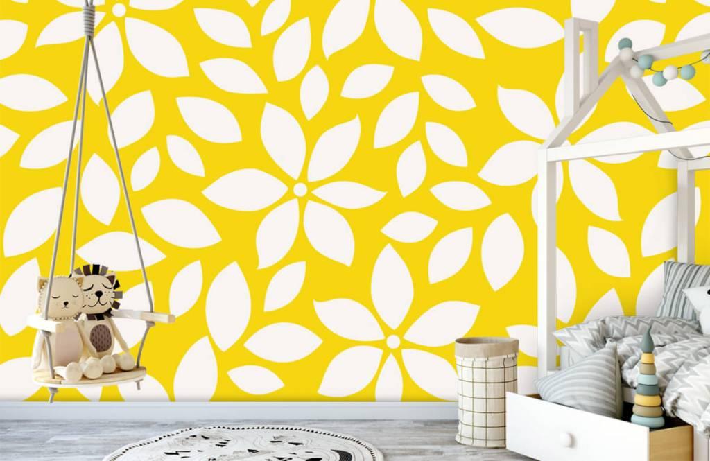 Autre - Motif fleur jaune - Chambre de bébé 1