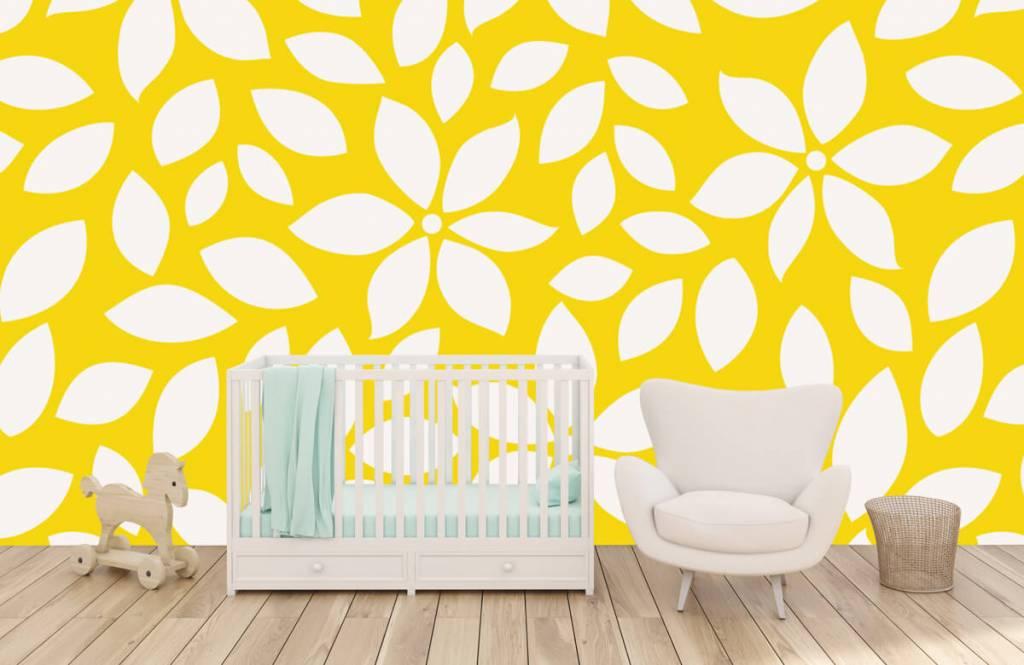 Autre - Motif fleur jaune - Chambre de bébé 5